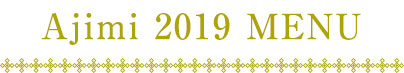 Ajimi 2019 menu